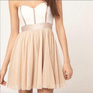 ASOS lace strapless dress
